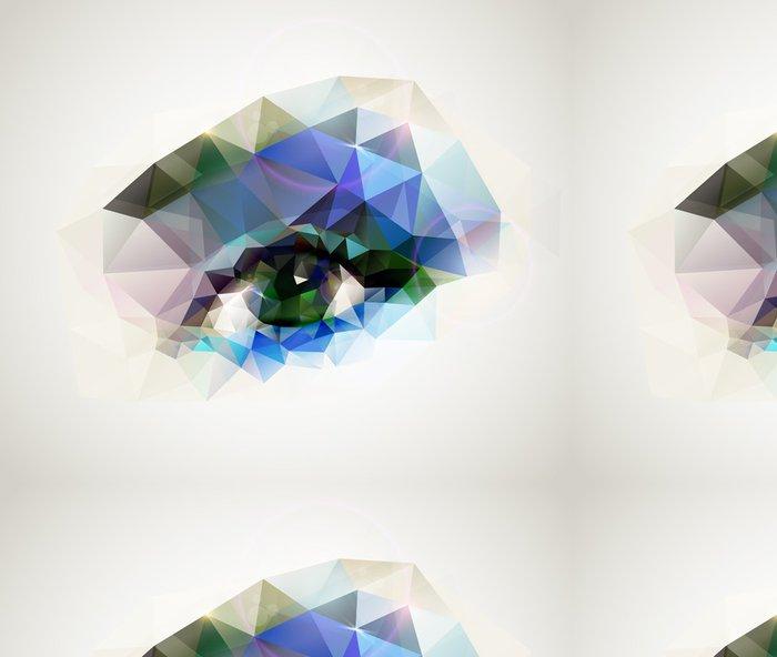 Tapeta Pixerstick Ženské oko vytvořené z polygonů - Témata