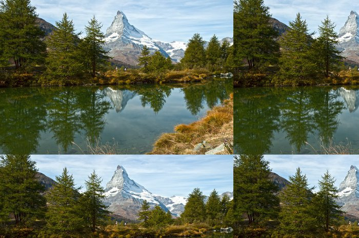 Tapeta Pixerstick Zermatt-Grindjisee jezero Cervino - Prázdniny