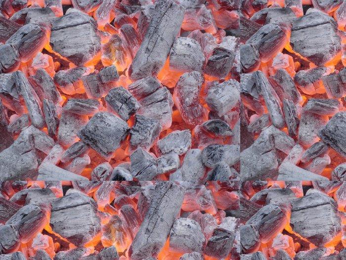 Tapeta Pixerstick Žhavé uhlíky - Struktury