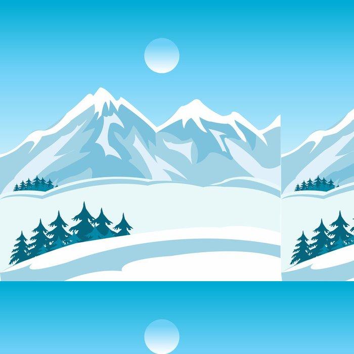 Tapeta Pixerstick Zima v horách - Hory