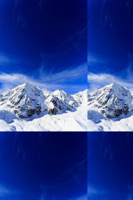 Tapeta Pixerstick Zimní hory, zasněžené vrcholky Alp - Evropa