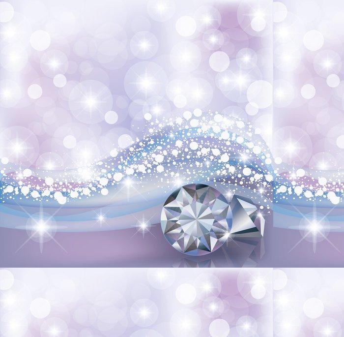 Tapeta Pixerstick Zimní karta s diamanty, vektorové ilustrace - Mezinárodní svátky