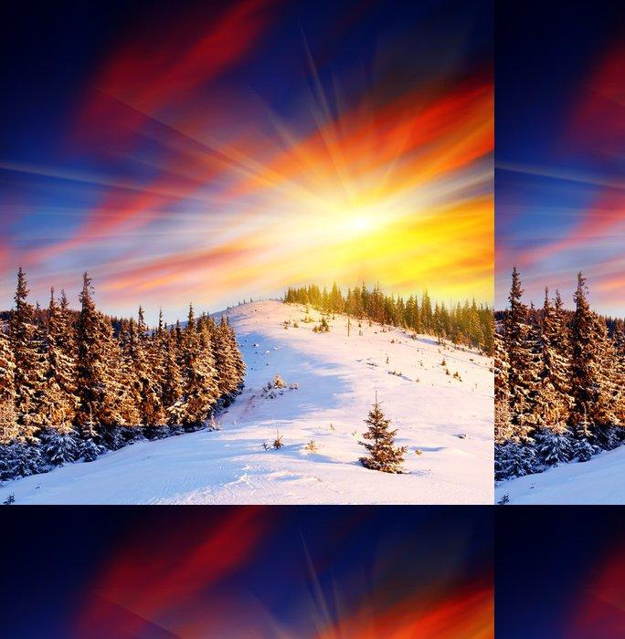 Tapeta Pixerstick Zimní krajina - Prázdniny