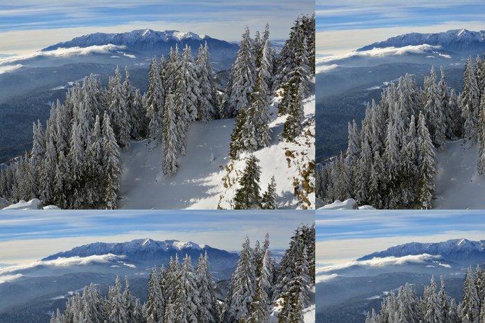 Tapeta Pixerstick Zimní krajina - Hory