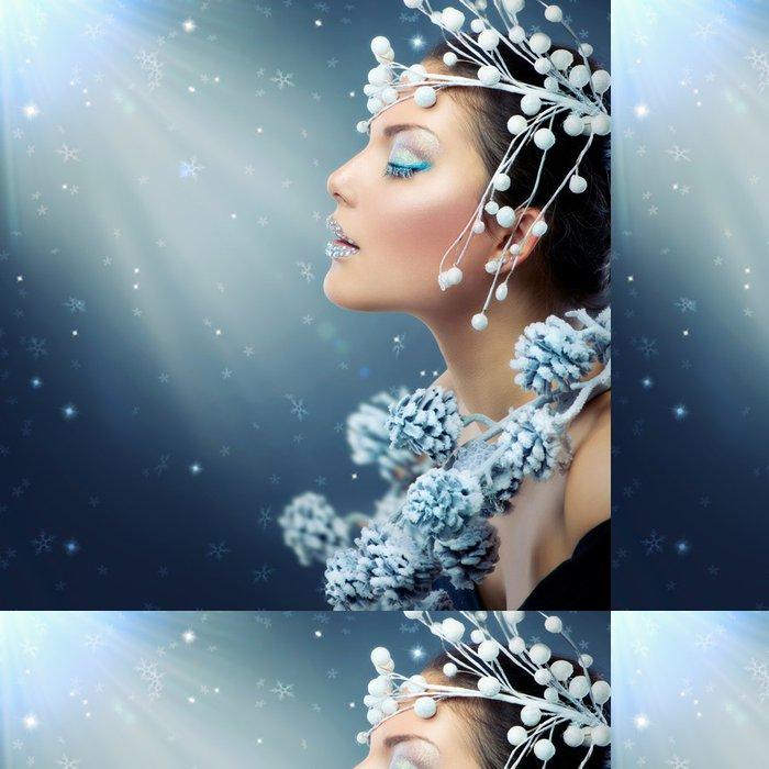 Vinylová Tapeta Zimní krása ženy. Vánoční dívka make-up - Mezinárodní svátky