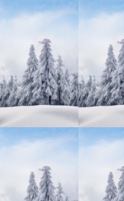 Vinylová Tapeta Zimní krásný les - Roční období