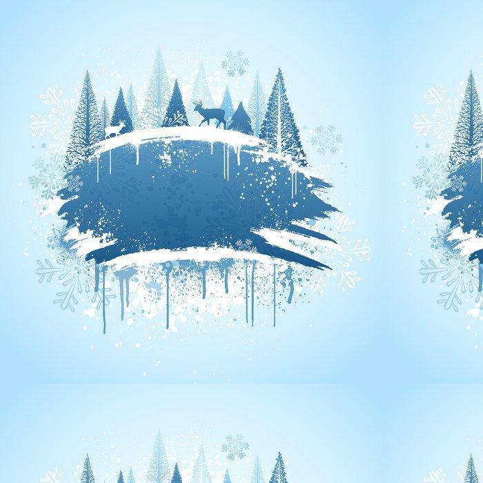 Tapeta Pixerstick Zimní les grunge design - Mezinárodní svátky