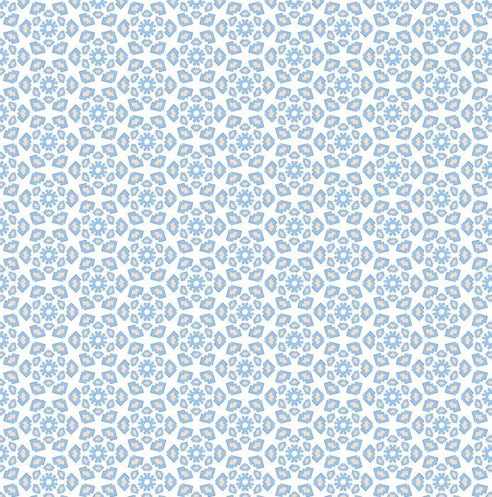 Tapeta Pixerstick Zimní modrá textilní vzor - Pozadí