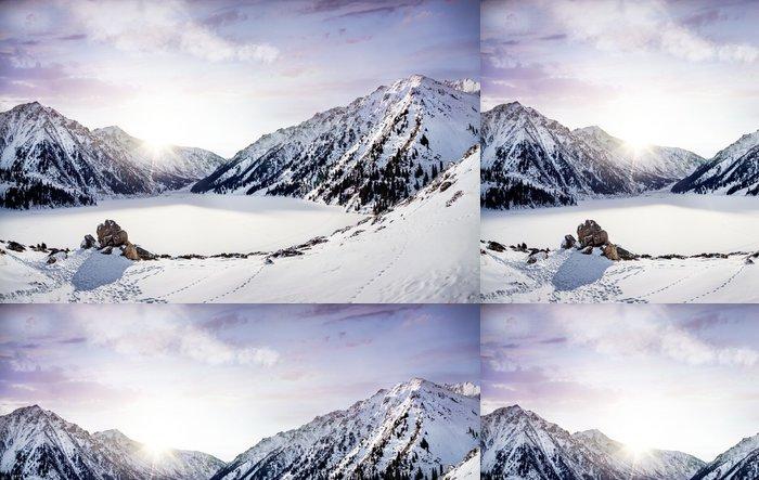 Tapeta Pixerstick Zimní Mountain Lake - Témata
