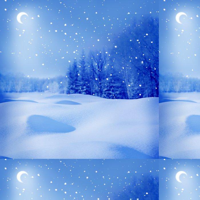 Tapeta Pixerstick Zimní noc - Mezinárodní svátky