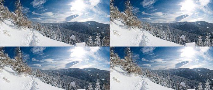 Tapeta Pixerstick Zimní panorama - Evropa