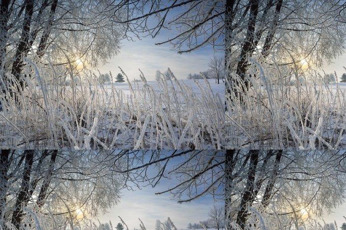 Tapeta Pixerstick Zimní pobočka - Prázdniny