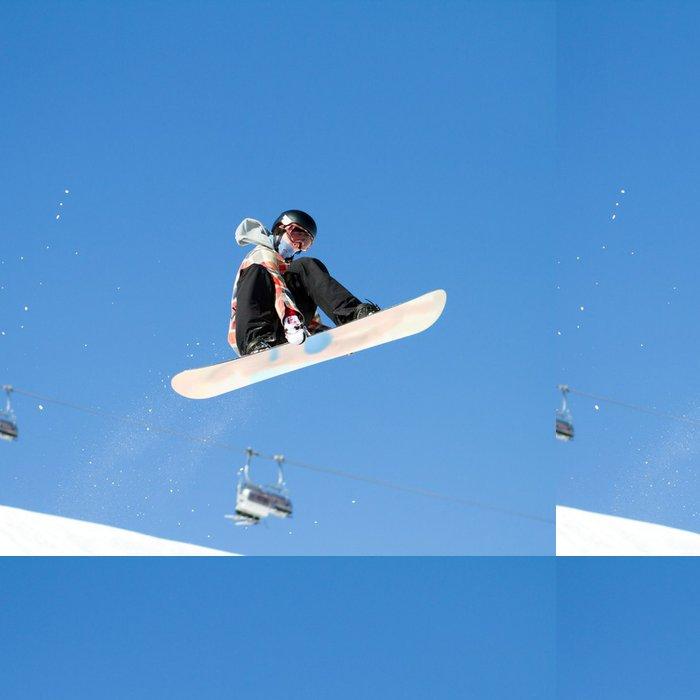 Tapeta Pixerstick Zimní sporty - Snowboard a lyžování