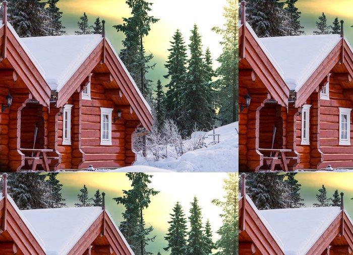 Vinylová Tapeta Zimní středisko - Prázdniny