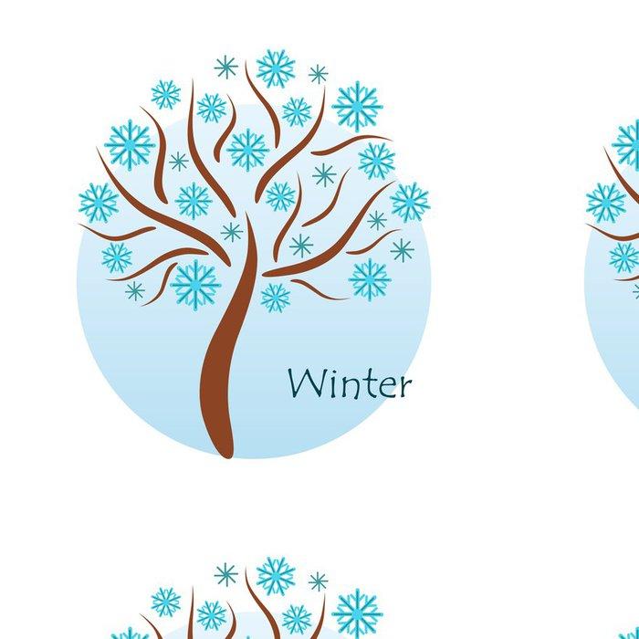 Tapeta Pixerstick Zimní strom - Roční období