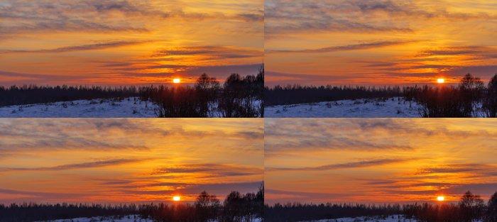Tapeta Pixerstick Zimní západ slunce - Příroda a divočina