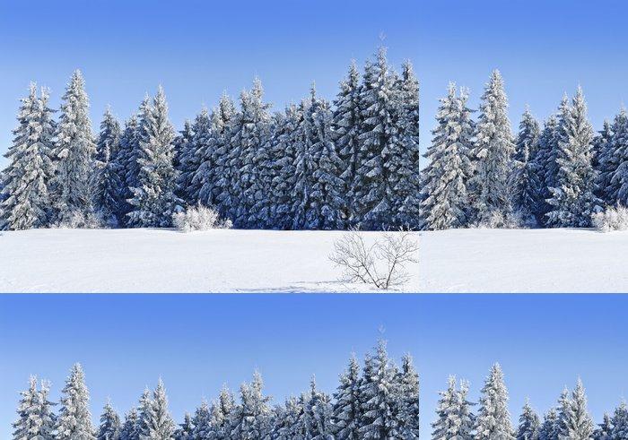 Tapeta Pixerstick Zimní zmrazené lesa - Hory
