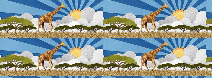 Vinylová Tapeta Žirafa vyrobeny z recyklovaného papíru pozadí - Struktury
