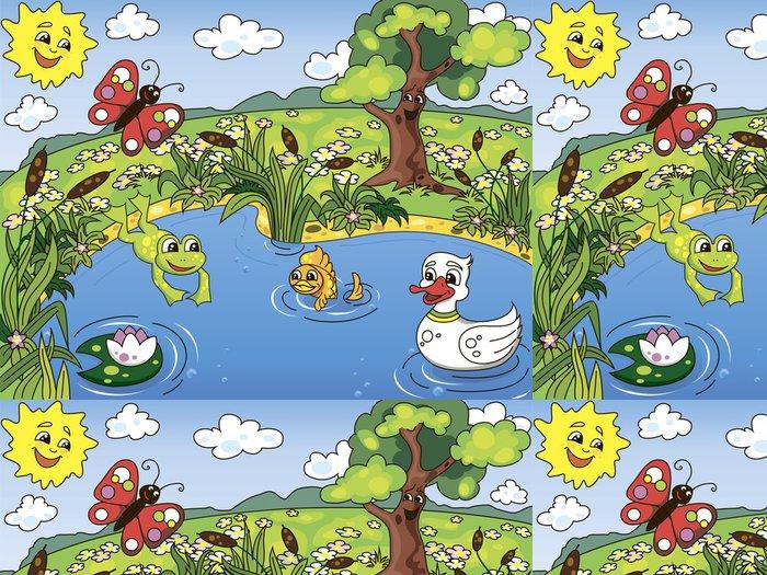 Tapeta Pixerstick Život v rybníce - Pro předškoláka