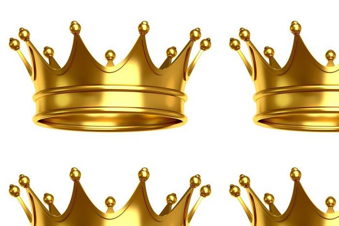 Tapeta Pixerstick Zlatá koruna - Značky a symboly