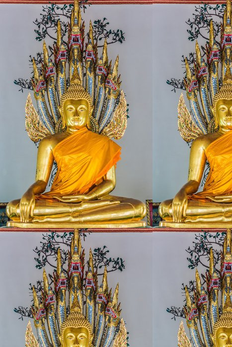 Tapeta Pixerstick Zlatá socha Buddhy Wat Pho, chrám bangkok, thajsko - Asie