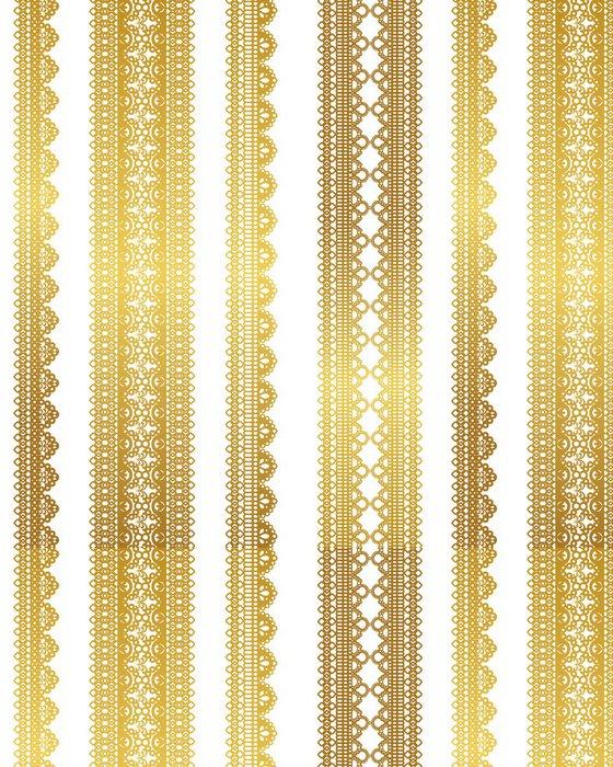 Tapeta Pixerstick Zlatá speciální krajka - Surové materiály