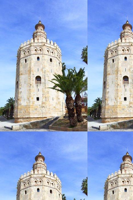Tapeta Pixerstick Zlatá věž - Evropa