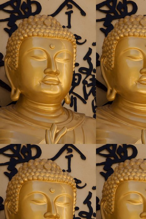 Tapeta Pixerstick Zlatý buddha obraz - Náboženství