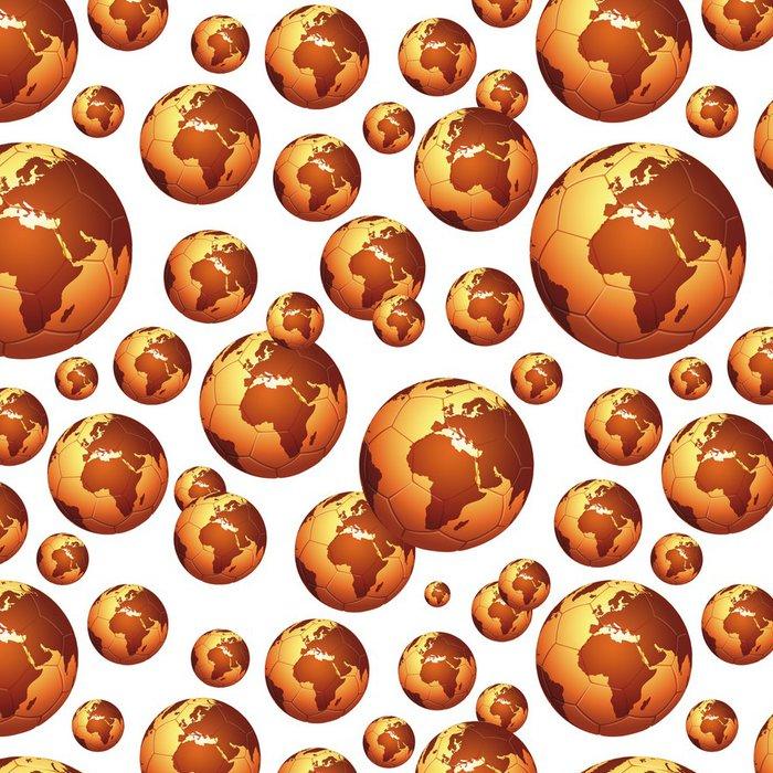 Tapeta Pixerstick Zlatý míč vzor, Afrika orientovaný - Sportovní potřeby