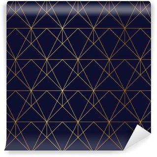 Tapeta Pixerstick Zlatý texturu. Bezproblémová geometrický vzor. Zlaté pozadí. G