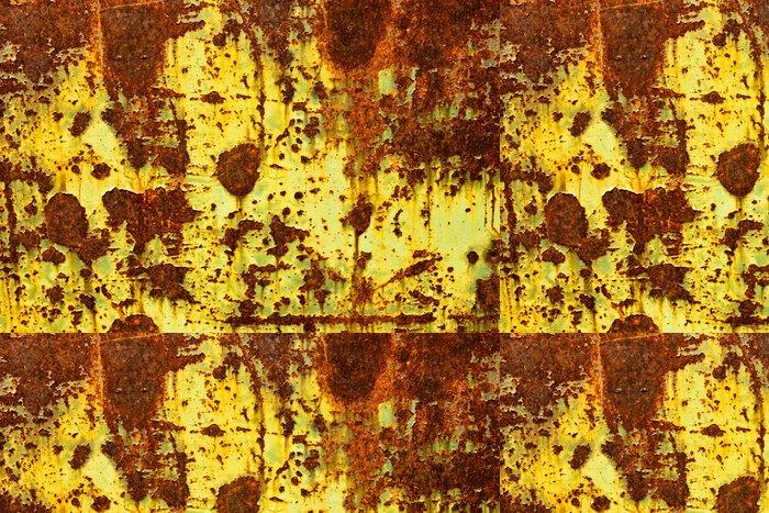 Tapeta Pixerstick Žlutá barva Peeling na kovovými dveřmi - Struktury