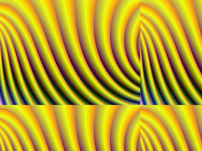 Tapeta Pixerstick Žlutá Křivky - Abstraktní