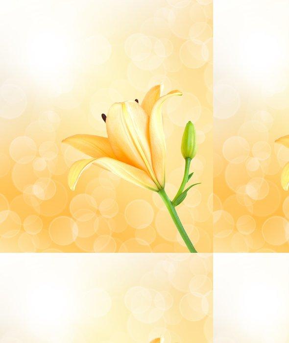 Tapeta Pixerstick Žlutá lilie - Pozadí