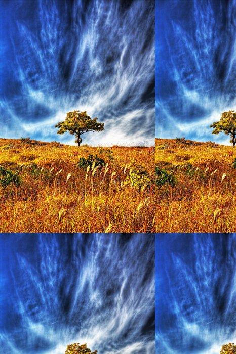 Vinylová Tapeta Žluté podzimní dubové - Roční období