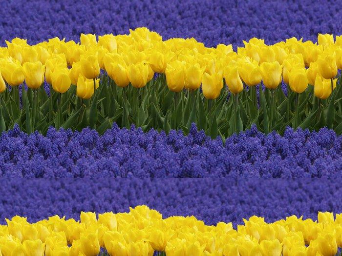 Tapeta Pixerstick Žluté tulipány a hyacinty hroznů - Roční období