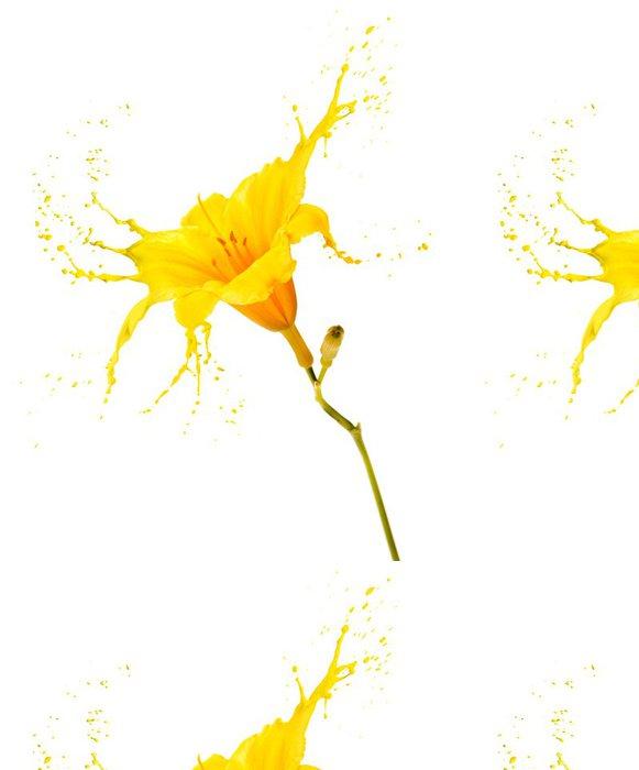 Tapeta Pixerstick Žlutý květ postříkání - Květiny
