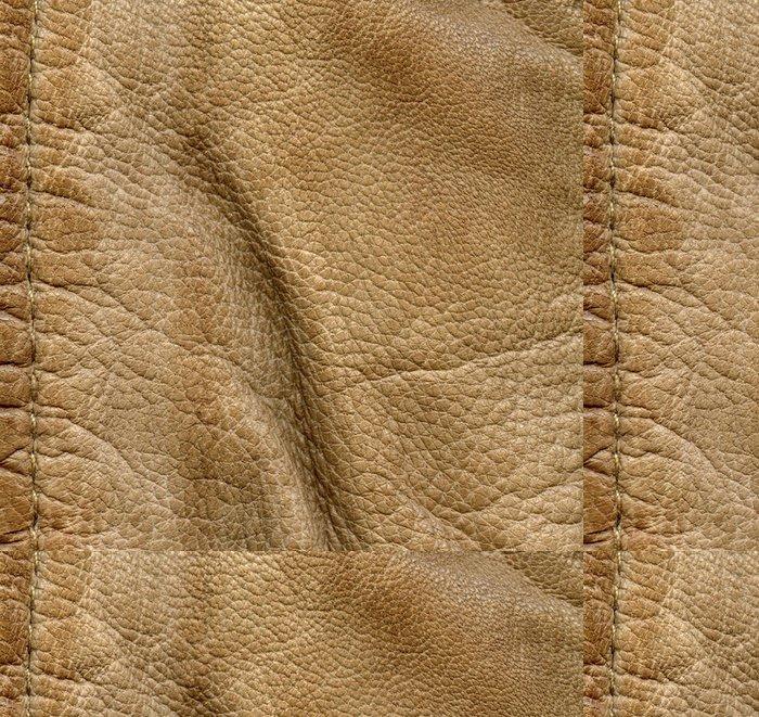 Tapeta Pixerstick Zmačkaný kůže detailní textury, steh - Doplňky