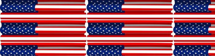 Tapeta Pixerstick Znázornění pověšený americkou vlajku - Témata