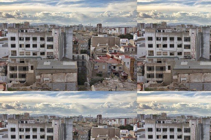 Tapeta Pixerstick Zničených domů ve městě Cartagena v Murcia, Španělsko - Město