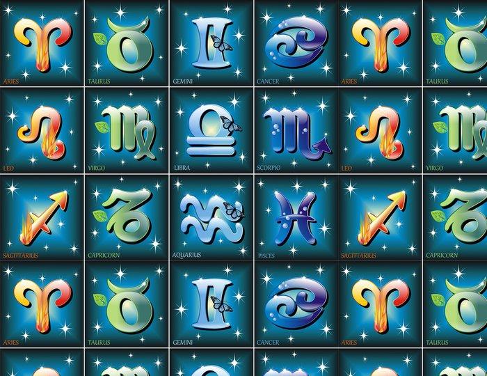Vinylová Tapeta Zodiaco Simboli-Zodiac symboly-Vector - Ezoterika