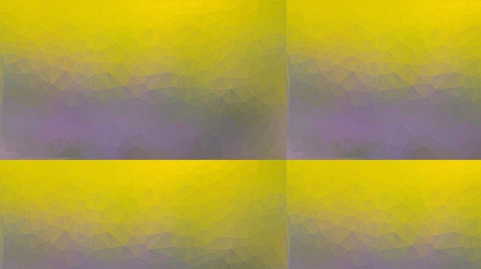 Tapeta Winylowa Żółty i fioletowy abstrakcyjne tło trójkąta wielokąta - Tła