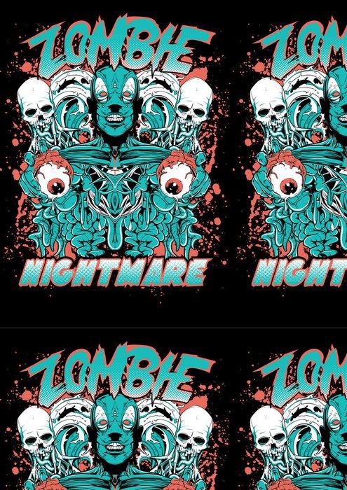 Tapeta Pixerstick Zombie noční můra - Témata