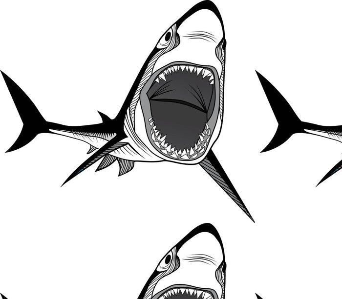 Vinylová Tapeta Žralok rybí hlavy - Žraloci
