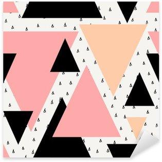 Abstrakti geometrinen saumaton malli Pixerstick Tarra