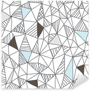 Abstrakti saumaton doodle kuvio Pixerstick Tarra