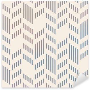 Abstrakti saumaton geometrinen vektori chevron kuvio. mesh backgro Pixerstick Tarra