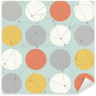 Skandinaavinen geometrinen moderni saumaton malli Pixerstick Tarra