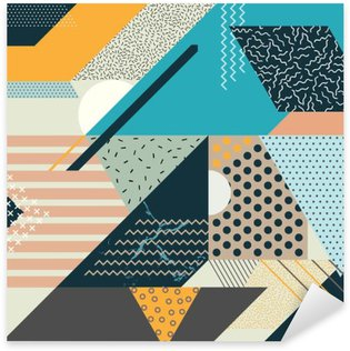 Taiteen geometrinen tausta Pixerstick Tarra