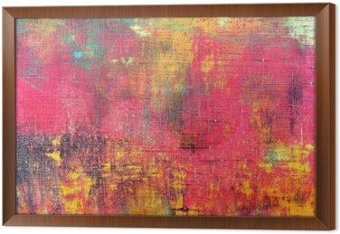 Tavla i Ram Abstrakt färgrik handen målade konsistens bakgrund