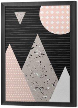 Tavla i Ram Abstrakt geometrisk Liggande